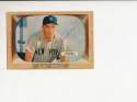 Irv Noren New York Yankees #63  Signed 1955 Bowman Baseball Card