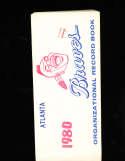 Atlanta Braves 1980 Organization Record Sketch Book