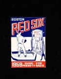 Boston Red Sox 1959 Press Radio Media Guide