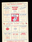 1947 8/7  Washington Nationals vs Boston Red Sox  scored program