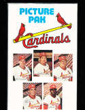 St Louis Cardinals Picture Pack 1976 fold out poster