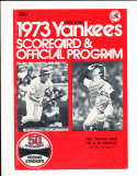 1973 New York Yankees Program Thurman Munson partially scored