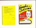 1952 Laughs of a lifetime by Dizzy Dean 63 pages em