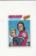 Dennis Eckersley Cleveland Indians #525  1977 topps Signed Baseball card