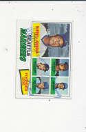Darrell Johnson Wes stock Jim Busby #597  1977 topps Signed Baseball card