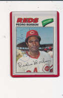 Pedro Borbon Reds #581 Signed 1977 Topps Baseball Card