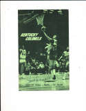 1969 Kentucky Colonels ABA signed media guide Louis Dampier