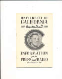 1947 University of California Basketball Press Media Guide