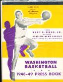 1948 University of Washington Basketball Press Media Guide Sammy White