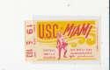 USC vs Miami 10/5 1968 Football Ticket stub em clean