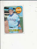 1969 Topps Leo Durocher chicago Cubs signed Topps Baseball Card