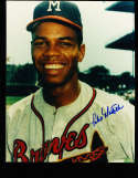 Felix Matilla  portrait Signed Milwaukee Braves  8x10 color photo