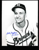 Bobby Malkmus Signed Milwaukee Braves  8x10 color photo