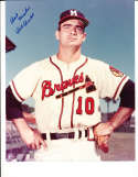 Bob Buhl Signed Milwaukee Braves  8x10 color photo