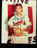 Billy Burton Signed Milwaukee Braves  8x10 color photo