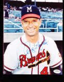 Andy Pafko Signed Milwaukee Braves  8x10 color photo