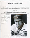 Del Crandall  Signed Milwaukee Brewers Team Photo JSA letter