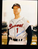 Del Crandall color Signed Milwaukee Braves  8x10 color photo