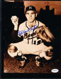 "Bob ""Hawk"" Taylor  Signed Milwaukee Braves  8x10 color photo"