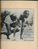 Jesse Owens  Signed Sports Illustrated vintage photo personalized