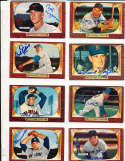 Allie Reynolds New York Yankees #201 SIGNED 1955 Bowman baseball card