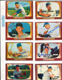 Dee Fondy Chicago Cubs #224 SIGNED 1955 Bowman baseball card
