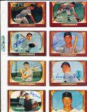 Yogi Berra Yankees #168 SIGNED 1955 Bowman baseball card