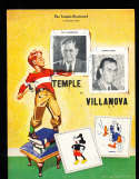 12/5 1942 Temple  vs Villanova football program