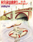 1941 10/25 Harvard vs Navy football program