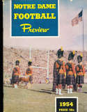 Notre Dame football 1954 Issue Preview  - font cover nick