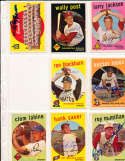 Clem Labine Los Angeles Dodgers #403 Signed 1959 topps SIGNED 1959 Topps baseball card