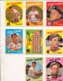Eddie Mathews Braves Team #419 Signed 1959 topps card SIGNED 1959 Topps baseball card