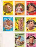 Eddie Mathews Braves Team #419 Signed 1959 topps card SIGNED 1959 Topps baseball card