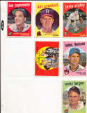 Pirates buc hill aces 4 Law, face, friend, Kline Signed #428 1959 topps card SIGNED 1959 Topps baseball card