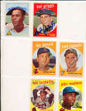 lou burdette Milwaukee Braves #440 Signed topps card SIGNED 1959 Topps baseball card