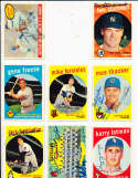 Cleveland Indians team card 7 sigs Gary bell #476 Signed 1959 topps SIGNED 1959 Topps baseball card