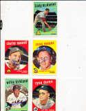 Willie Kirkland San Francisco Giants #484 Signed 1959 topps card SIGNED 1959 Topps baseball card