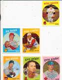 Mike Cueller Cincinnati Reds #518 Signed 1959 topps card SIGNED 1959 Topps baseball card