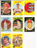 Lee Tate St. Louis Cardinals #544 Signed 1959 topps card SIGNED 1959 Topps baseball card