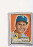 Jerry Coleman New York Yankees #237 vg  Signed 1952 topps card