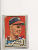 Dell Crandall Boston Braves #162  gd signed 1952 topps card