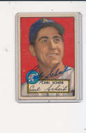 Carl Scheib Philadelphia Athletics 1952 Signed topps card