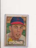 Cliff chambers St. Louis Cardinals #68 1952 signed topps baseball card