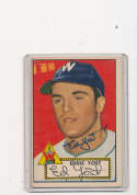 Eddie Yost Washington Senators #123 vg 1952 Signed topps card