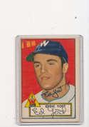 Eddie Yost Washington Senators #123 vg 1952 Signed topps card