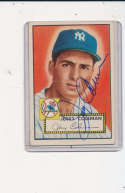 Jerry Coleman New York Yankees Signed 1952 topps baseball card