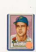 Paul LaPalme Pittsburgh Pirates #166 Signed 1952 topps card