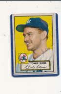 Charlie Silvera New York Yankees #168  Signed 1952 topps baseball card