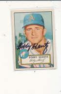 Bobby Shantz Kansas City Athletics #219 Signed 1952 topps card