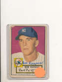 Bob Kuzava New York Yankees #85 Signed 1952 topps card